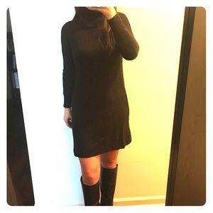 NWOT black turtleneck sweater dress